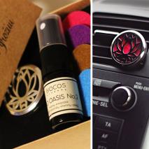 Aromaterapinis rinkinys automobiliui:  difuzorius + BIO OASIS aromatas