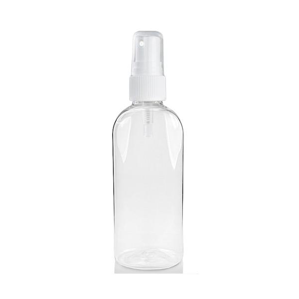 Buteliukas 100 ml su purkštuku (skaidrus plastikinis)