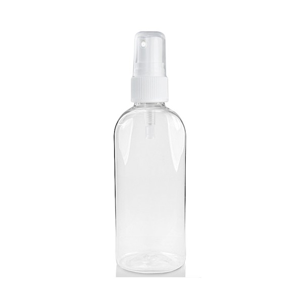 Clear plastic bottle with spray pump 100 ml
