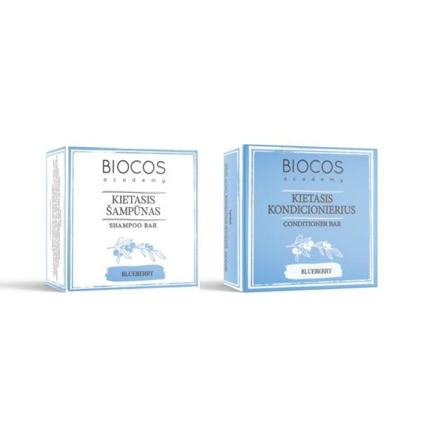 BLUEBERRY kieto šampūno ir kondicionieriaus rinkinys plaukams